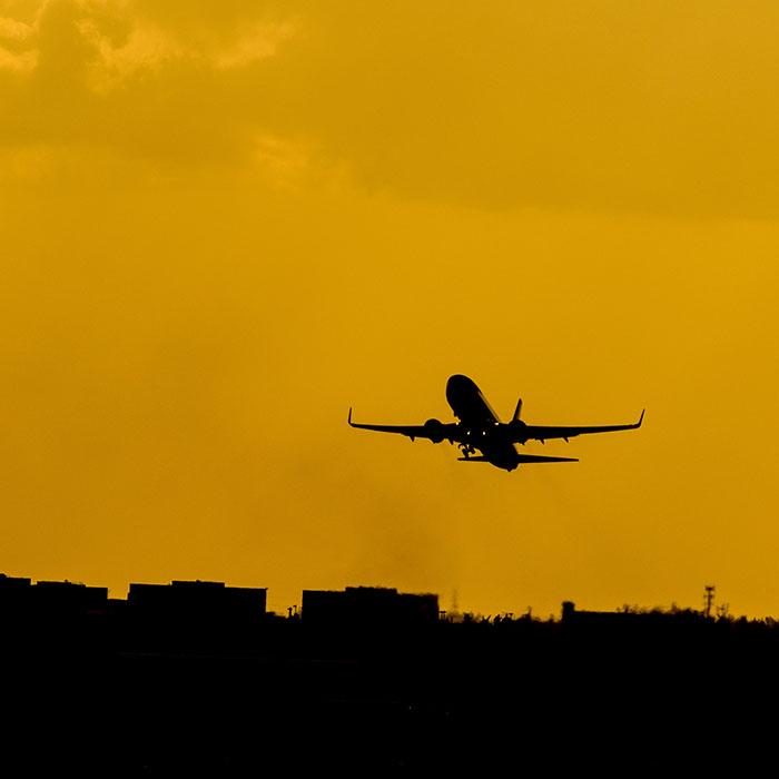 Flugzeug, Abflug, Kambodscha