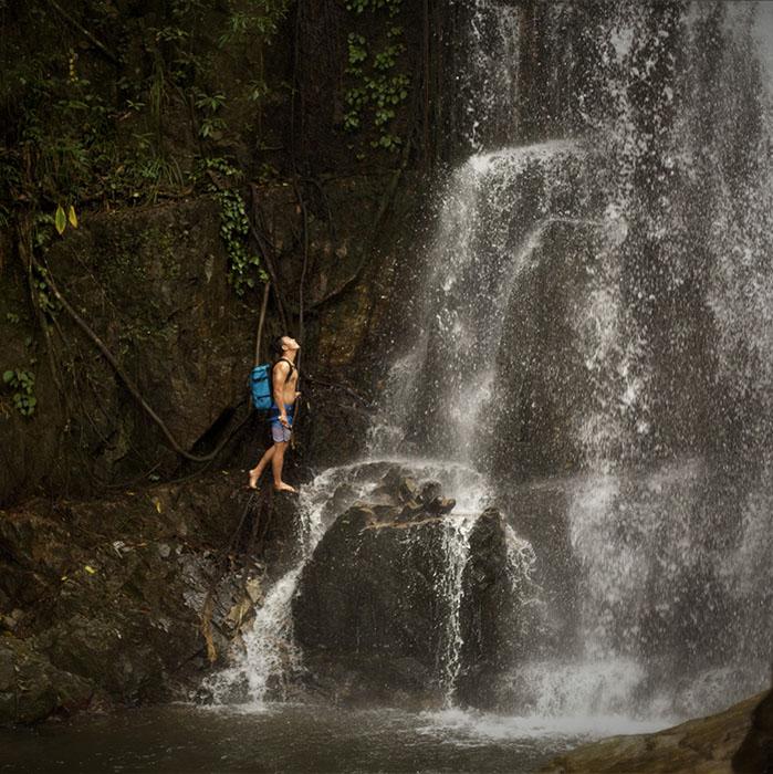 Cascade, Kbal Spean, Angkor, Cambodge