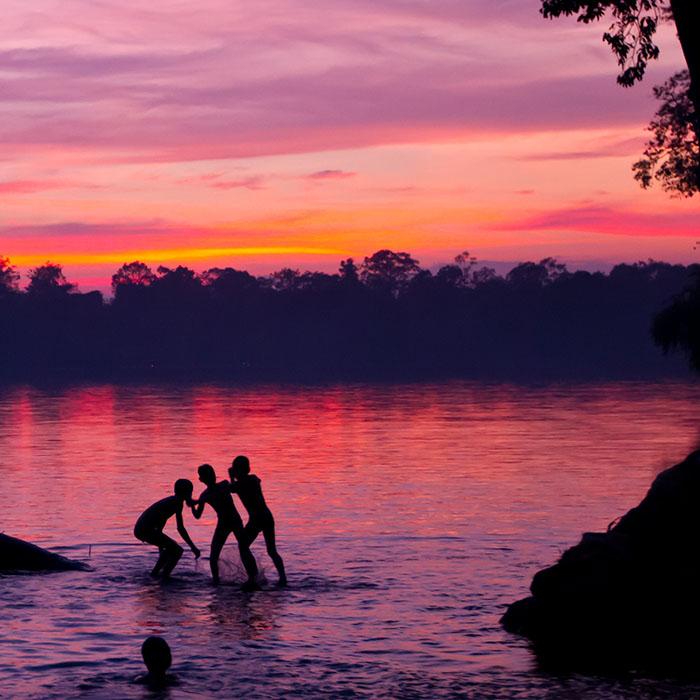 Stung Sen Fluss, Kampong Thom, Kambodscha