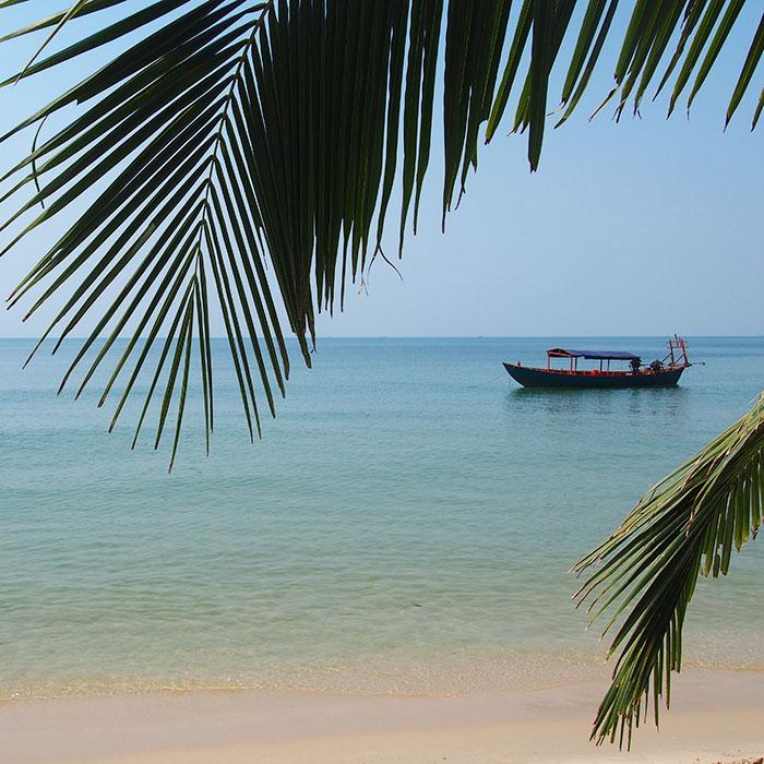 Strand, einzigartig, Kambodscha