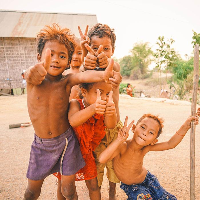 Kinder, Kambodscha