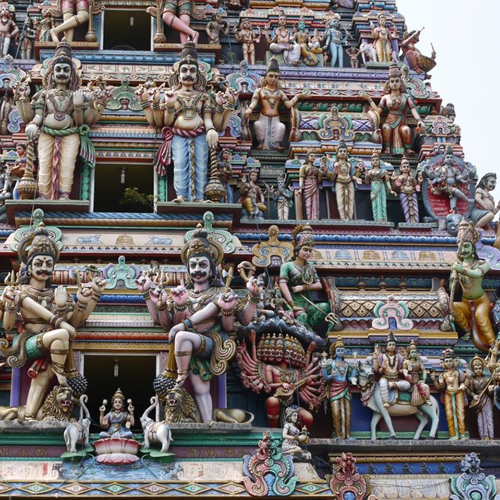Hindu Temple, Madurai, India
