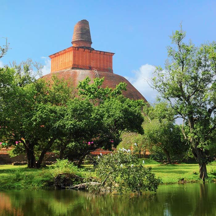 Dagoba, Anuradhapura, Sri Lanka