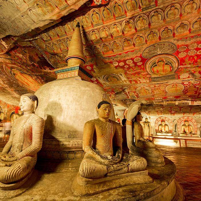 Goldener Tempel, Dambulla, Sri Lanka