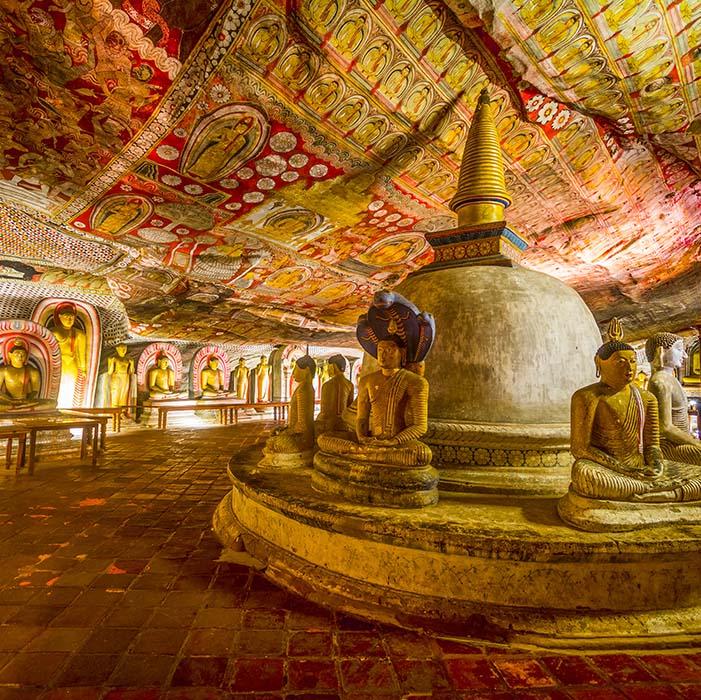 Dambulla Höhlentempel, Sri Lanka