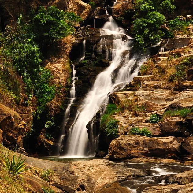Rawana Wasserfälle Ella, Sri Lanka