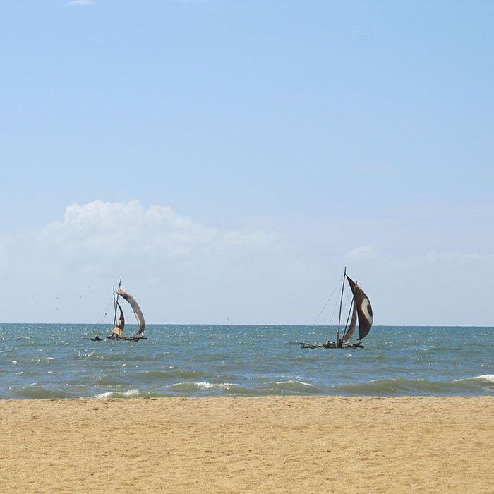 Sri Lanka, Negombo, Katamaran, Fahrt