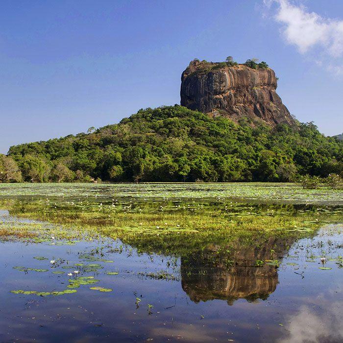 Sri Lanka, Sigiriya Felsen, See