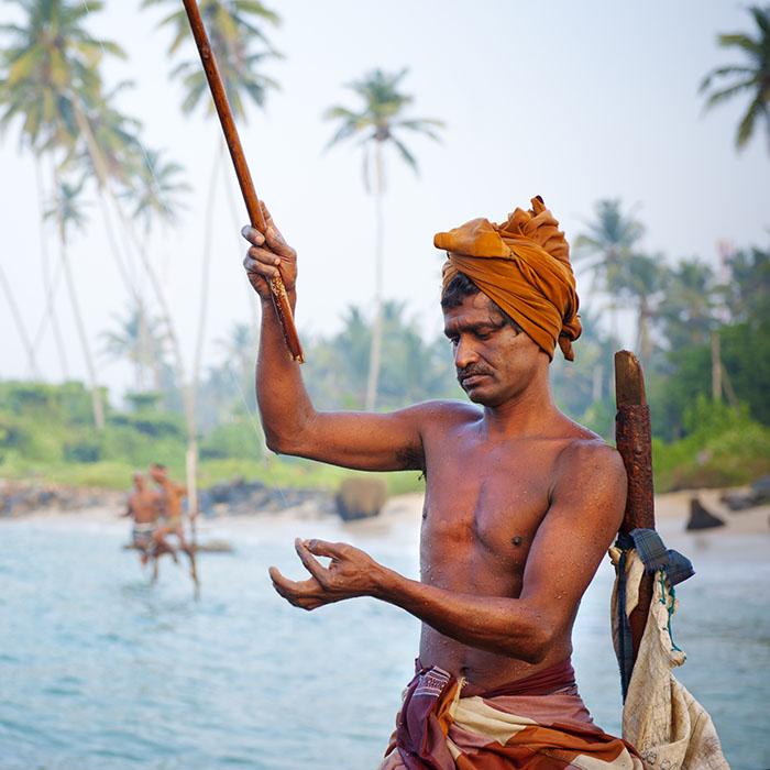 Stelzenfischer Ahangama, Sri Lanka