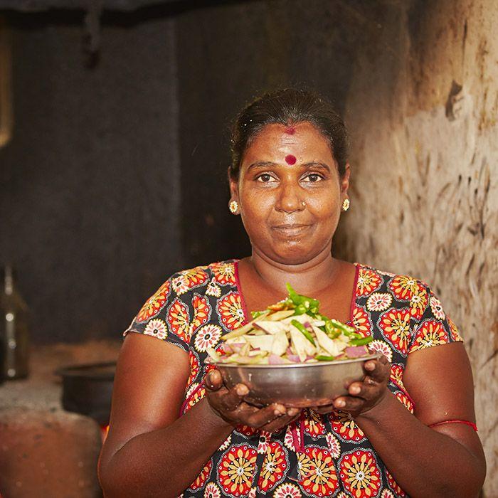 Woman, kitchen, Sri Lanka