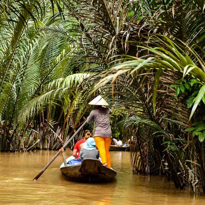 Vietnam, Cai Be, Boot, Mekong Delta, Mensch