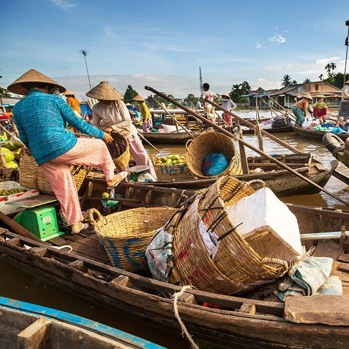 Vietnam, schwimmender Markt, Boot