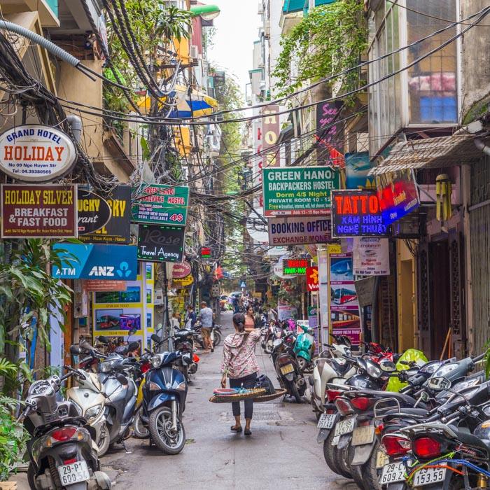 Vietnam, Hanoi, Straße