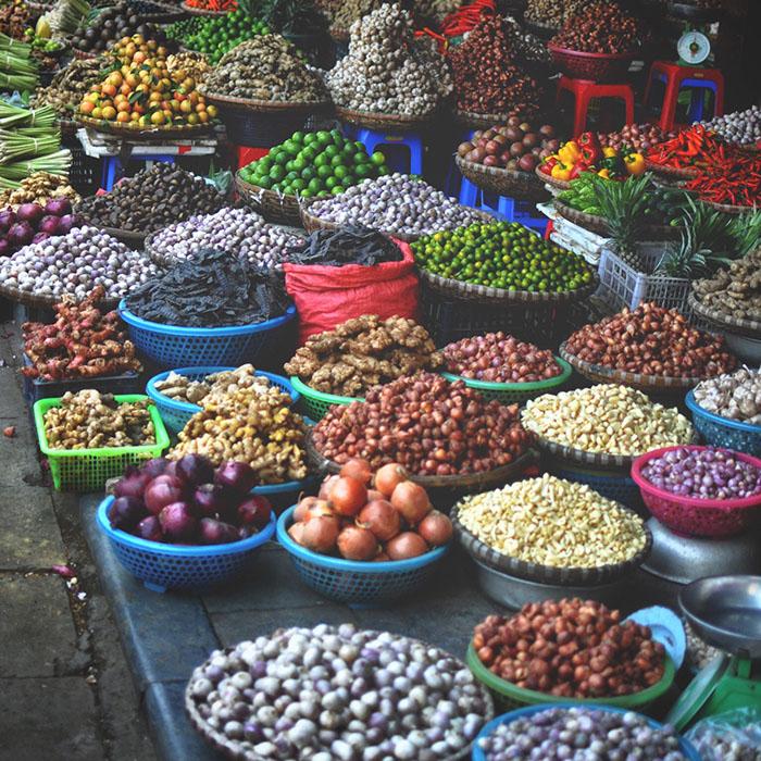 Gewürzmarkt, Valentinssteph, Hanoi Vietnam