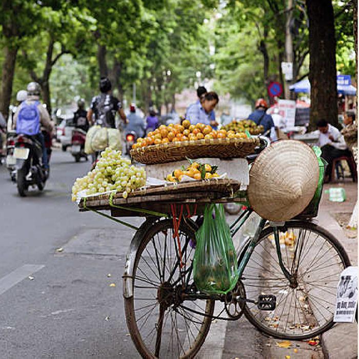 Straßenmarkt, Hanoi, Vietnam