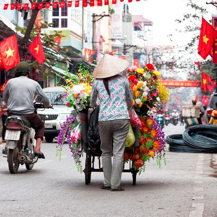 Vietnam, Hanoi, Mensch