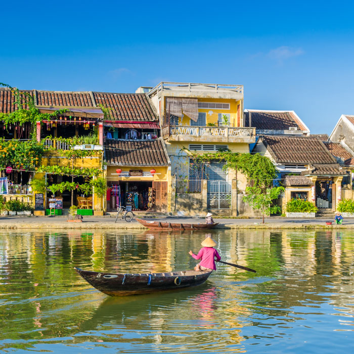 Vietnam, Hoi An, Boot