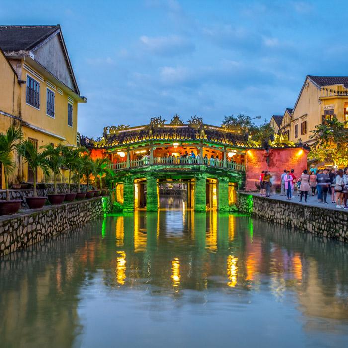 Vietnam, Hoi An, Altstadt, Brücke