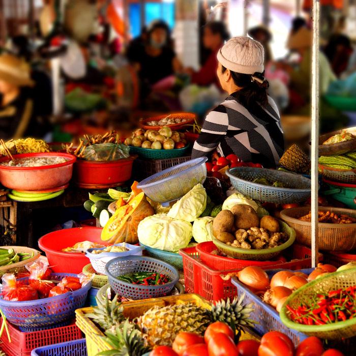 Vietnam, Hoi An, Altstadt, Markt