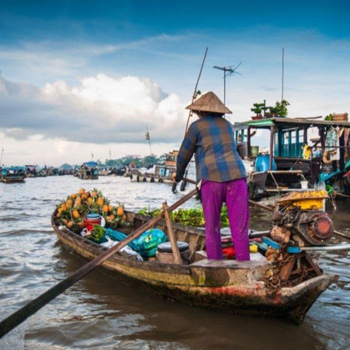 Schwimmender Markt, Long Xugen, Vietnam