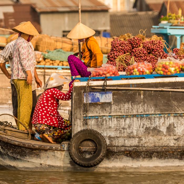 Vietnam, Mekong Delta, schwimmende Markt