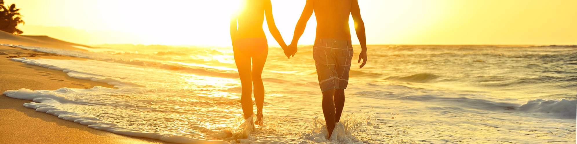 Paar, Flitterwochen, Strand, Sri Lanka