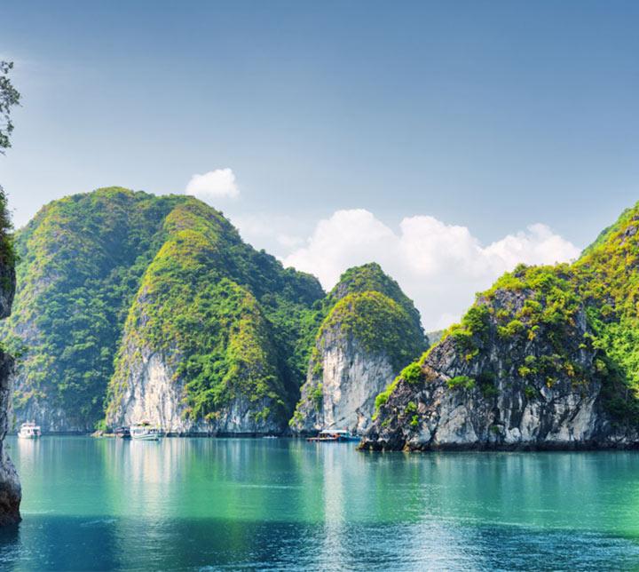 Boot, Halong Bucht, Vietnam