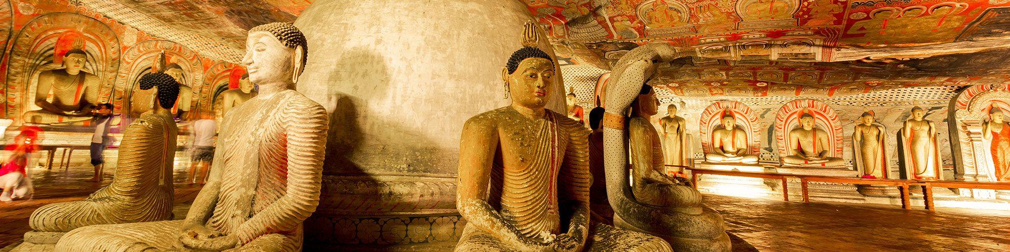 Sri Lanka, Dambulla, Höhle, Tempel