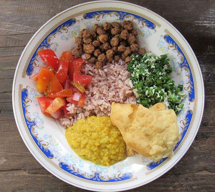 Sri Lanka, Traditon, Essen, Reis, Curry