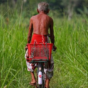 Man, Bike, Sri Lanka