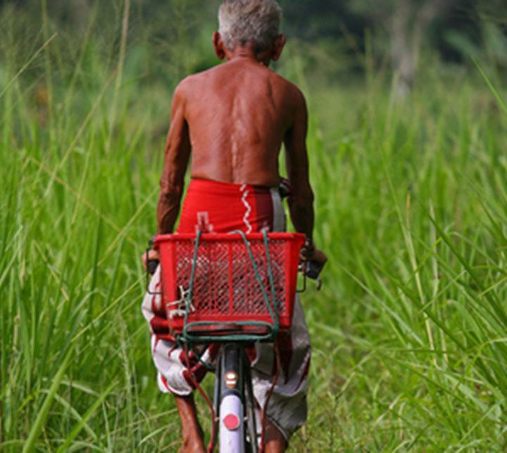 Man, Bike, Sri Lanka