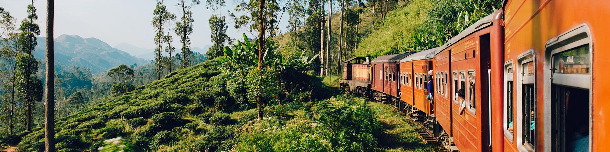Sri Lanka, Zugfahrt, Berge