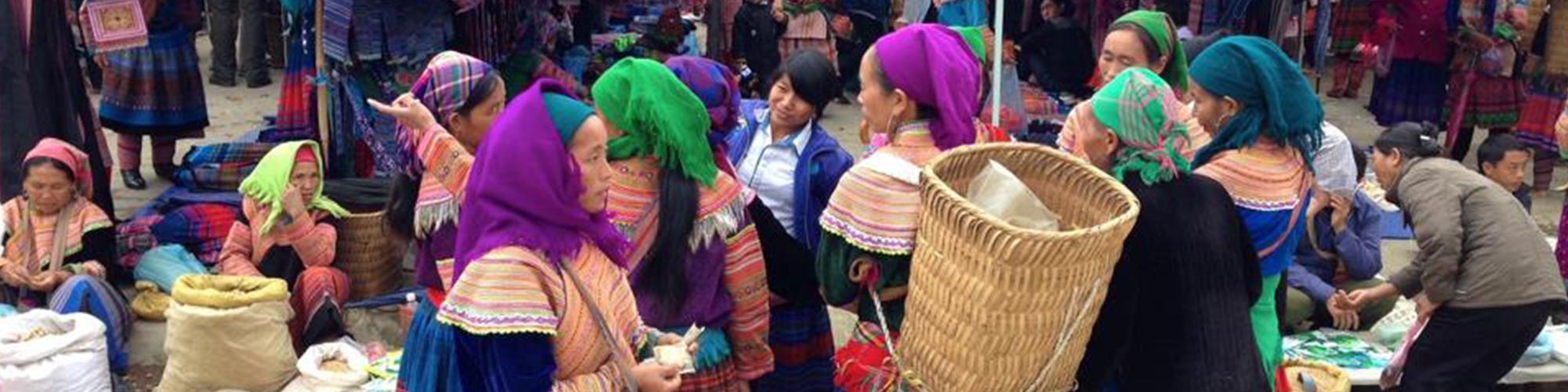 Bac Ha Markt am Sonntag